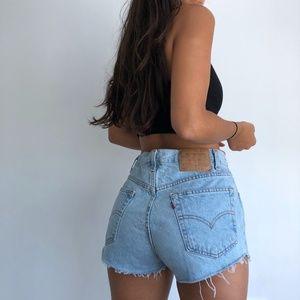 Vintage Levi's 505 high waist denim shorts